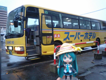 ミク:「バスは止まってなくてよかったですね! なんとか根室行けま...