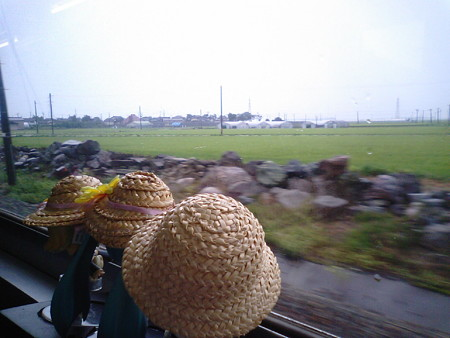 西袋→藤島間。雨は上がったみたい。