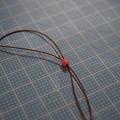 Photos: 5 ゴム管に紐を通す