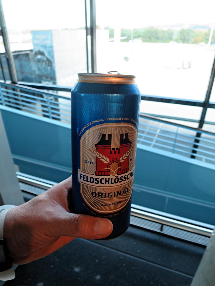 復路チューリッヒで麦酒
