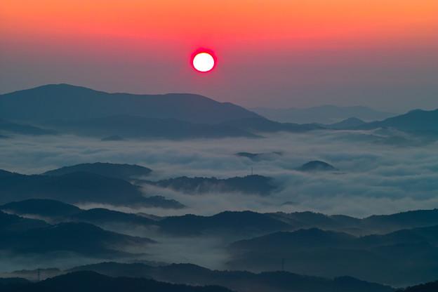 雲海と朝日!
