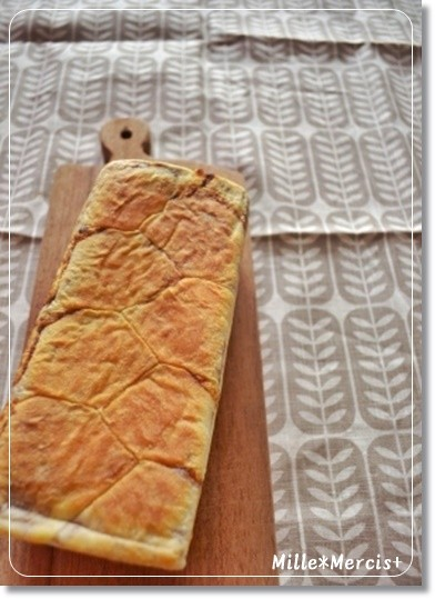 パウンド型で渋皮煮入りのプルマン