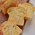 Photos: チェダーチーズの折り込みパン@酒種