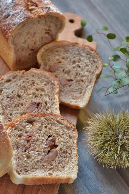 白ごまと渋皮栗のミニ食パン@レーズン酵母エキス