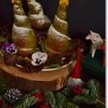 抹茶コロネでクリスマスツリー@酒種