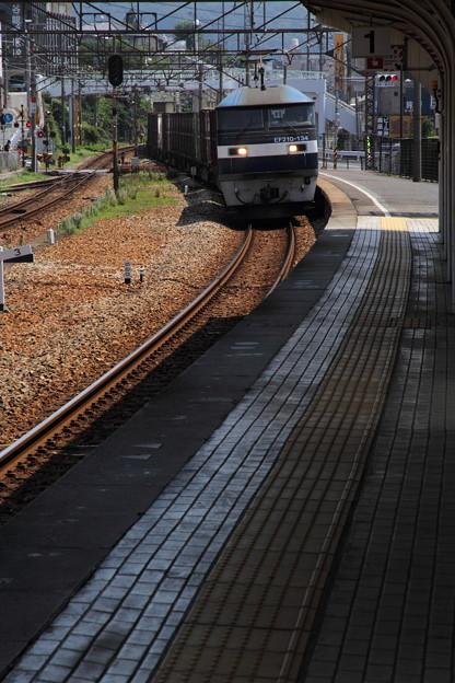 尾道駅にて