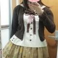 Photos: 今日のお出かけで着た服。メタモのおえかきくまちゃんSKとセーラーブラウスでカジュアルっぽくコーデ。メタモでカジュアルって結構むずかしい気がする( ̄▽ ̄;)