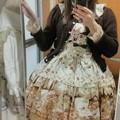 Photos: 今日のお出かけで着た服。メタモのRose letter襟付JSKコーデ(・∀・) 後ろバッスルでめちゃんこ可愛い(*´ω`*)