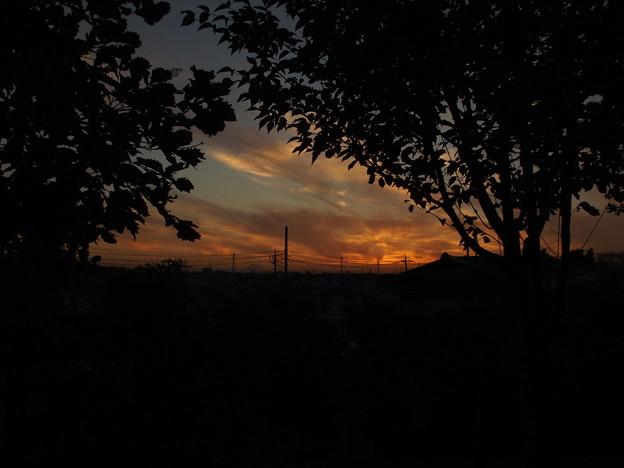 夕焼けと富士山2