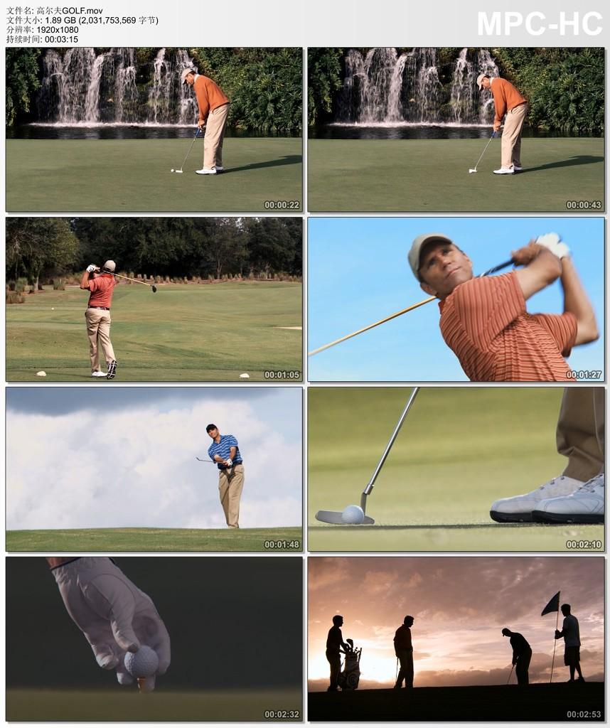 打高尔夫球的男人视频素材