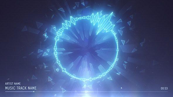 AE模板-根据音频可视化频谱波形霓虹灯动画图形