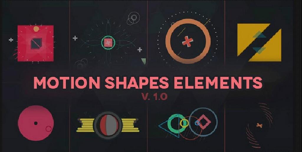 Videohive-Motion Shapes Animated Elements AE模板:300组MG形状动画元素展示运动图形动画元素合集包