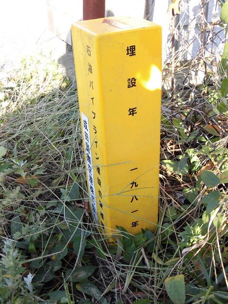 石油パイプラン埋設位置標識 NAA成田国際空港