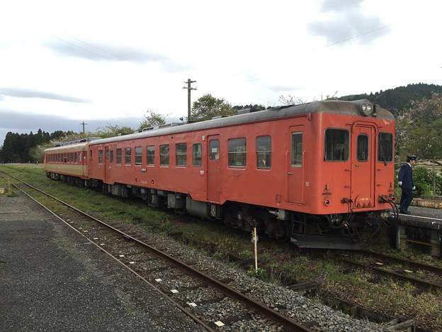 いすみ鉄道 キハ28、キハ52 国吉駅