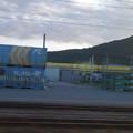 Photos: s1607_姫路貨物駅脇を走る新幹線試験列車