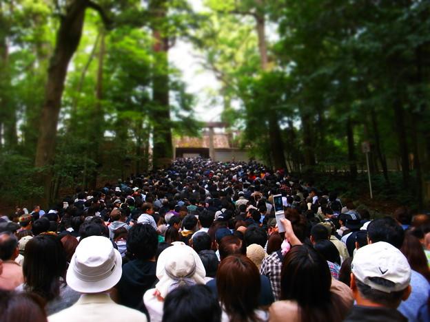 写真: 人的大渋滞