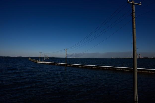 東京湾から富士山と船橋のカジ 057