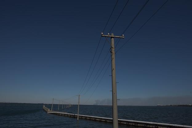 東京湾から富士山と船橋のカジ 059