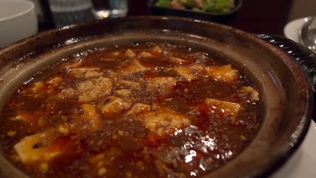 土鍋麻婆豆腐。