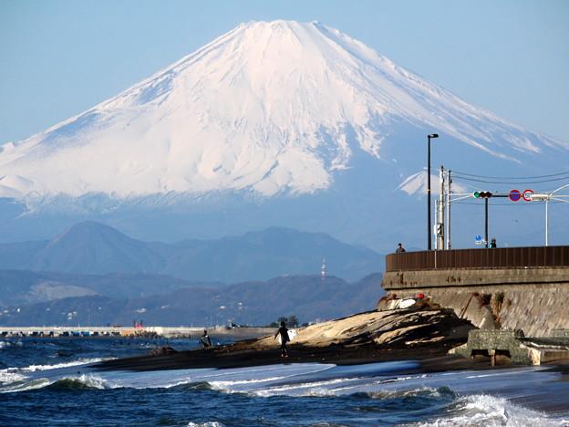 写真: 今年の富士