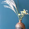 造花ススキと小菊2