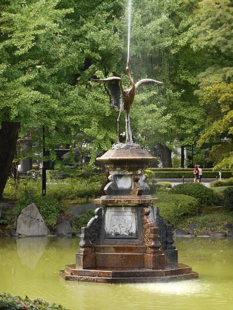 日比谷公園鶴の噴水2015.9.30