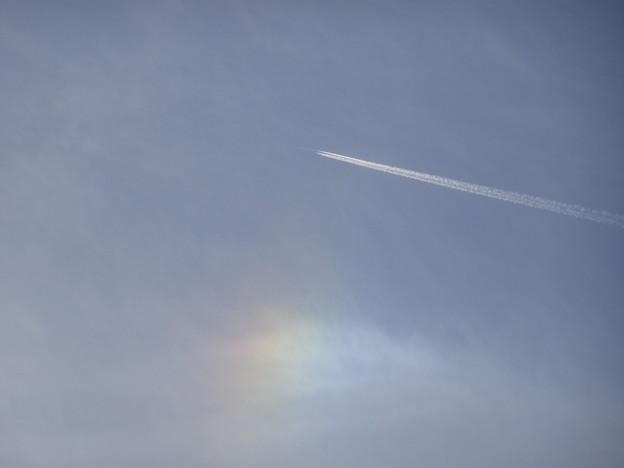 晴れの日の虹 彩雲 (4)