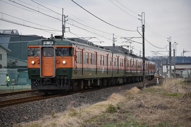 Photos: 信越本線 普通列車 139M (115系4両)