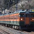 上越線 普通列車 727M (115系3両)
