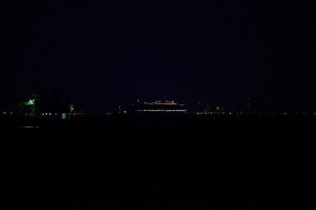 2016 クイーン・エリザベス 横浜入港 -1