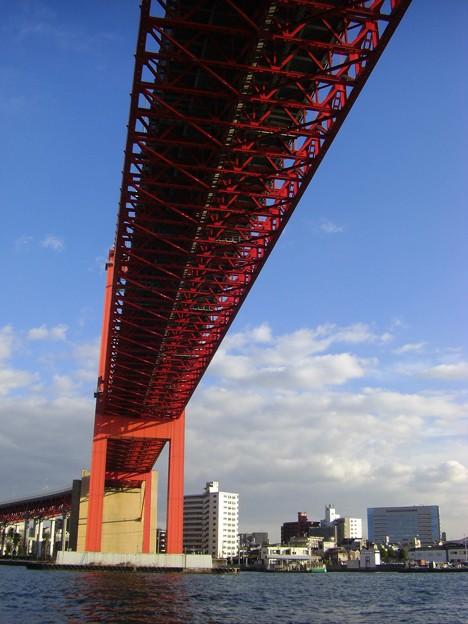 写真: 若戸大橋したから