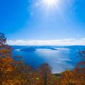 御鼻部山展望台より十和田湖全景