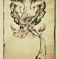 タトゥー 大阪 刺青デザイン 鳳凰 水墨画 phoenix japanesestyle