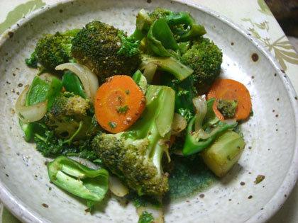 野菜ソテー、バルサミコとマスタードで。