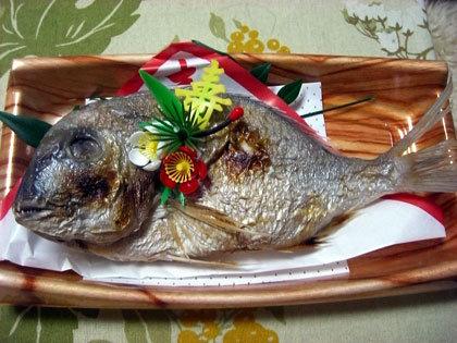 たい焼き。じゃなかった、鯛の焼き物。