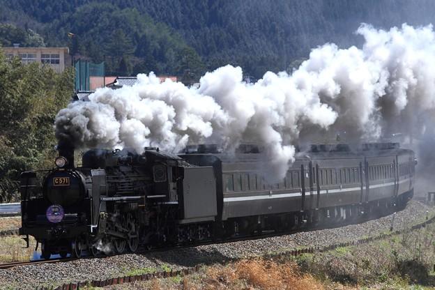 9521レ C57 1+12系 5両