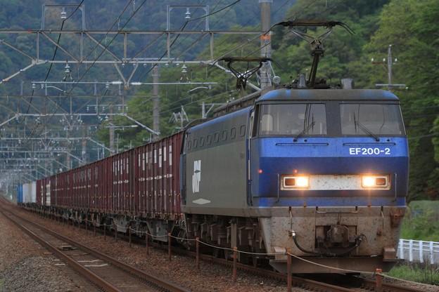 Photos: 5095レ EF200 2+コキ