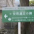 写真: 中山道を行く・安中 「安政遠足の碑」