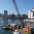 Photos: 隅田川の浚渫船 (中央区佃)