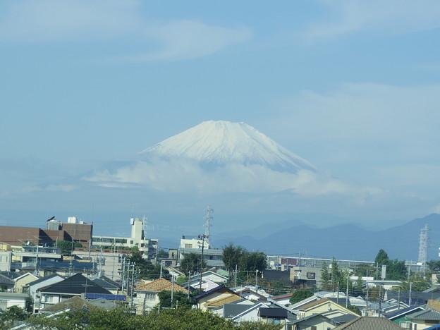 富士 初冠雪