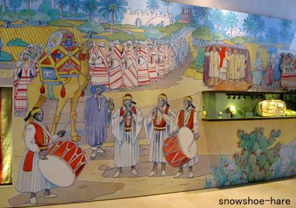ジェルバ島の伝統的花嫁行列の様子