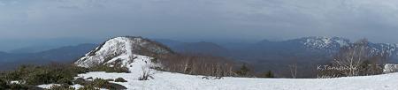 飯縄山頂からの眺め