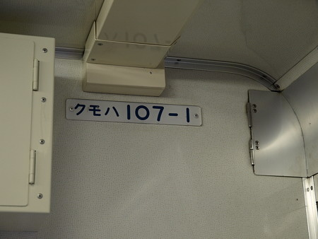 日光線107系車内