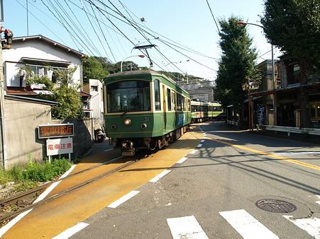 江ノ島→腰越の併用軌道区間5