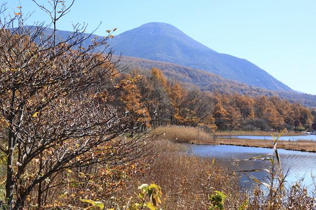 蓼科山と乙女湖