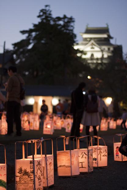 松江城中庭