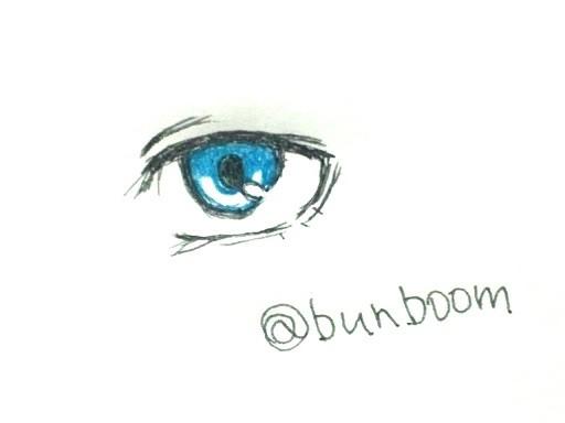 画像漁ったけど大体身体も描いてたから目もクソも無かったから目だけ描いてみたけど、シンプルなのしか描けないですわ。