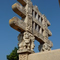 Photos: 第1塔西塔門~仏教彫刻 Upper part of the Western torana