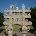 Photos: 第1塔北塔門~珠玉の仏教彫刻 Best preserved Northern tora-na,Sanchi
