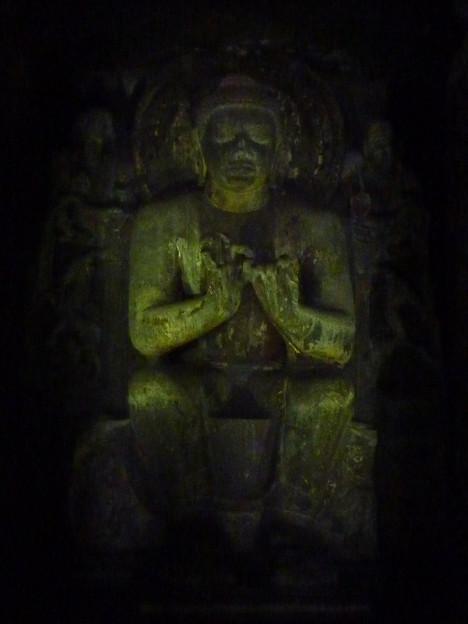 アジャンター第16窟釈迦像 Preaching  Buddha ,Ajanta cave